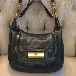 COACH Dark Forest Green Leather Shoulder Bag